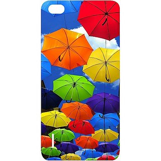 Casotec Colorful Umbrellas Design Hard Back Case Cover for Huawei Honor 6