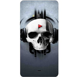 Casotec Rock the Music Pattern Print Design Hard Back Case Cover for Microsoft Lumia 540