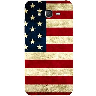 Casotec USA Flag Design Hard Back Case Cover for Samsung Galaxy J7