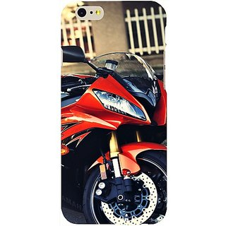 Casotec Red Motorcycle Design Hard Back Case Cover for Apple iPhone 6 / 6S