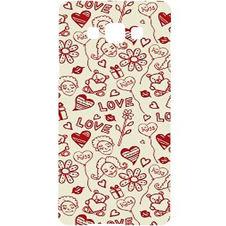 Casotec Love Hearts Design Hard Back Case Cover for Samsung Galaxy Grand 3