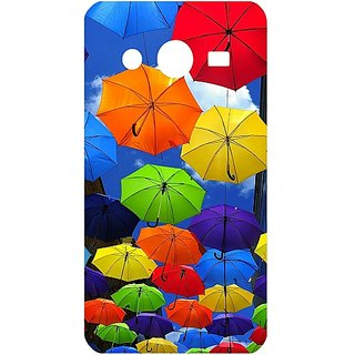 Casotec Colorful Umbrellas Design Hard Back Case Cover for Samsung Galaxy Core 2 G355H