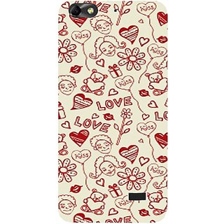 Casotec Love Hearts Design Hard Back Case Cover for Huawei Honor 4C