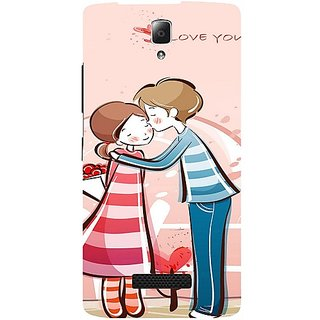 Casotec Boy Kissing Girl Design Hard Back Case Cover for Lenovo A2010