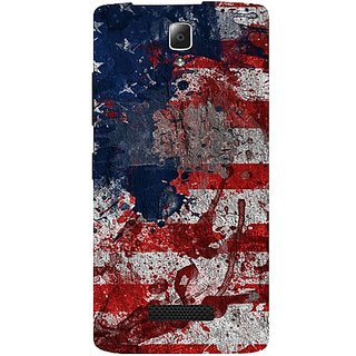 Casotec Painting American Design Hard Back Case Cover for Lenovo A2010