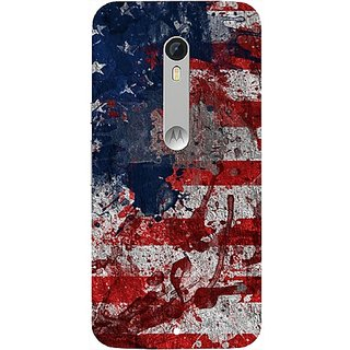 Casotec Painting American Design Hard Back Case Cover for Motorola Moto X Play