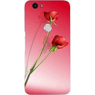 Casotec Red Roses Design Hard Back Case Cover for Nexus 6P