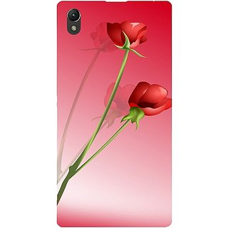 Casotec Red Roses Design Hard Back Case Cover for Sony Xperia Z1 L39H