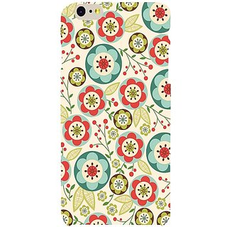 Casotec Floral Circle Pattern Print Design Hard Back Case Cover for Apple iPhone 6 Plus / 6S Plus