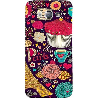 Casotec Paris Flower Love Print Design Hard Back case cover for Samsung Galaxy A8
