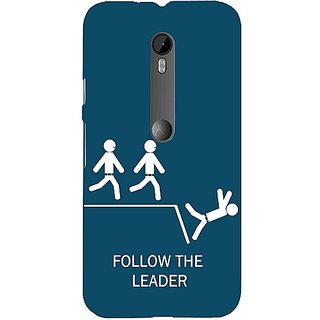 Casotec Follow The Leader Design Hard Back Case Cover for Motorola Moto G 3rd generation