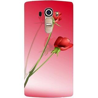 Casotec Red Roses Design Hard Back Case Cover For LG G4