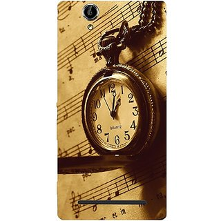 Casotec Pocket Watch Print Design Hard Back Case Cover for Sony Xperia T2 Ultra