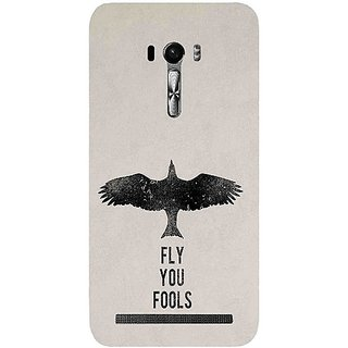 Casotec Fly You Fools Pattern Print Design Hard Back Case Cover for Asus Zenfone Selfie ZD551KL