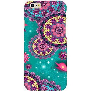 Casotec Circled Pattern Design Hard Back Case Cover for Apple iPhone 6 / 6S
