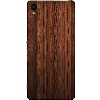 Casotec Wooden Design Hard Back Case Cover for Sony Xperia Z4