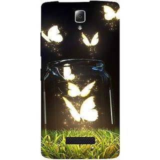 Casotec Butterfly Design Hard Back Case Cover for Lenovo A2010
