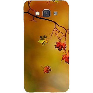 Casotec Colorful Leaves Print Design Hard Back Case Cover for Samsung Galaxy A3
