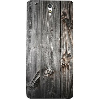 Casotec Wooden Texture Design Hard Back Case Cover for Sony Xperia C5 Ultra Dual
