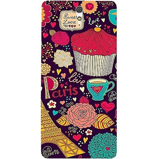 Casotec Paris Flower Love Design Hard Back Case Cover for Sony Xperia C5 Ultra Dual