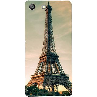Casotec Eiffel Tower Beautiful Cityscape Design Hard Back Case Cover for Sony Xperia M5 Dual