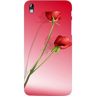 Casotec Red Roses Design Hard Back Case Cover for HTC Desire 816
