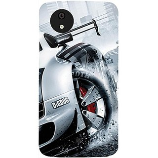 Casotec Drift Sport Print Design Hard Back Case Cover for Micromax Canvas A1