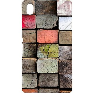 Casotec Wood Lumber Paint Design Hard Back Case Cover for Sony Xperia M4 Aqua