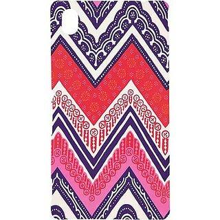 Casotec Ziggy Design Hard Back Case Cover for Sony Xperia M4 Aqua