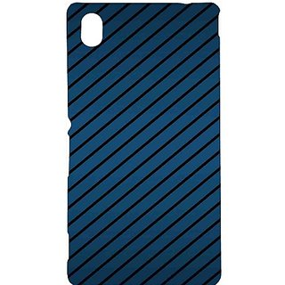 Casotec Blue Stripes Pattern Print Design Hard Back Case Cover for Sony Xperia M4 Aqua