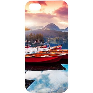 Casotec Sunset Sea Design Hard Back Case Cover for Apple iPhone 5 / 5S