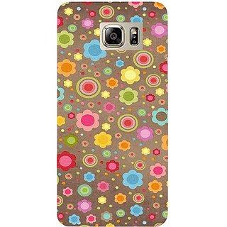 Casotec Colourfull Floral Pattern Print Design Hard Back Case Cover for Samsung Galaxy Note 5