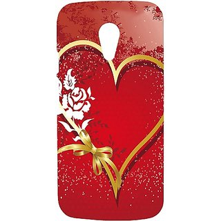 Casotec Love Rose Design Hard Back Case Cover for Motorola Moto G 2nd Generation