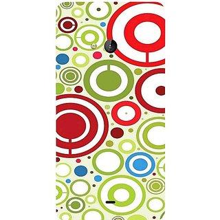 Casotec Colored Circle Design Hard Back Case Cover for Microsoft Lumia 540