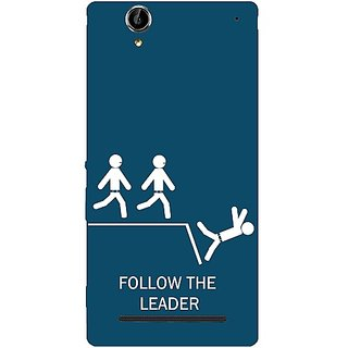 Casotec Follow The Leader Design Hard Back Case Cover for Sony Xperia T2 Ultra