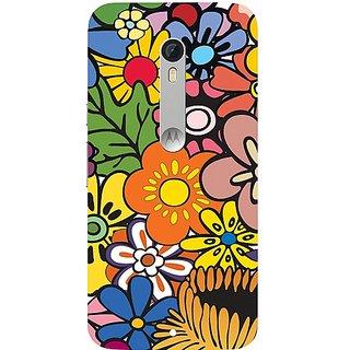 Casotec Vintage Floral Pattern Print Design Hard Back Case Cover for Motorola Moto X Play