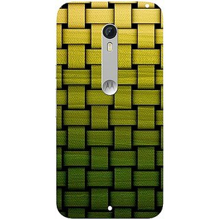 Casotec Stitches Pattern Print Design Hard Back Case Cover for Motorola Moto X Style