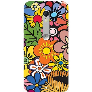 Casotec Vintage Floral Pattern Print Design Hard Back Case Cover for Motorola Moto X Style