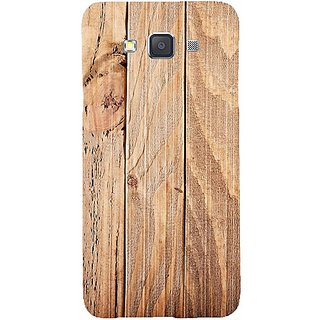 Casotec Wooden Texture Design Hard Back Case Cover for Samsung Galaxy A7