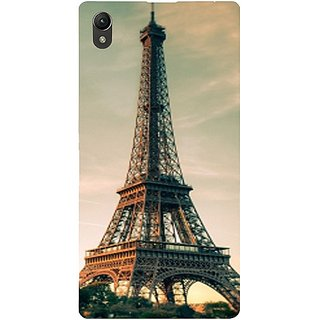 Casotec Eiffel Tower Beautiful Cityscape Design Hard Back Case Cover for Sony Xperia Z1 L39H