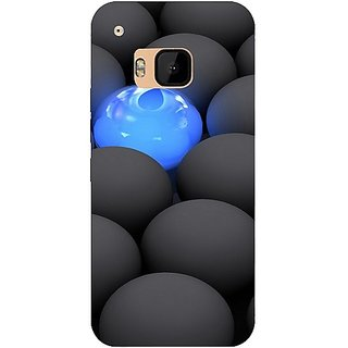 Casotec Balls Dark Neon Sight Surface Design Hard Back Case Cover for HTC One M9