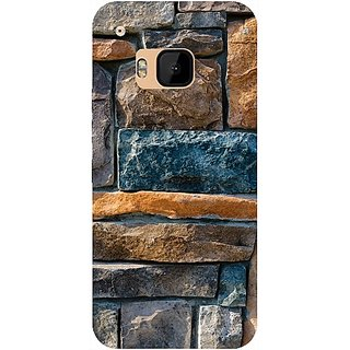 Casotec Decorative Stone Cladding Design Hard Back Case Cover for HTC One M9