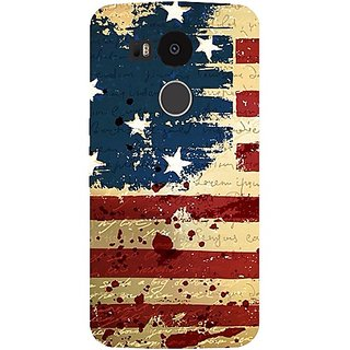 Casotec USA Flag Design Hard Back Case Cover for LG Nexus 5X