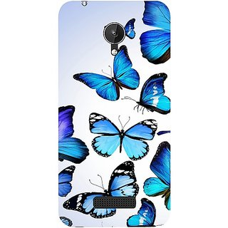 Casotec Flying Butterfly Colorful Design Hard Back Case Cover for Micromax Canvas Spark Q380
