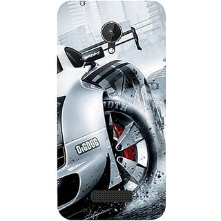 Casotec Drift Sport Print Design Hard Back Case Cover for Micromax Canvas Spark Q380