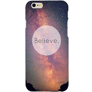Casotec Believe Design Hard Back Case Cover for Apple iPhone 6 / 6S