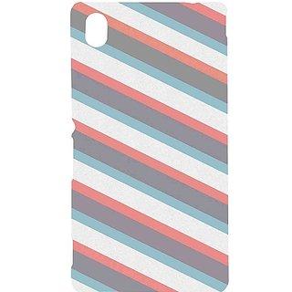 Casotec Striped Design Hard Back Case Cover for Sony Xperia M4 Aqua