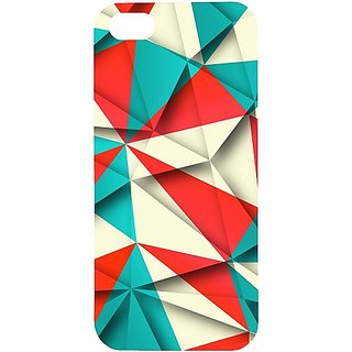 Casotec Red Blue White Pattern Design Hard Back Case Cover for Apple iPhone 5 / 5S