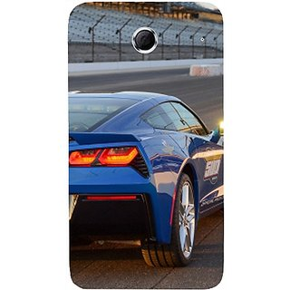 Casotec Car on Racing Track Design Hard Back Case Cover For Lenovo S880