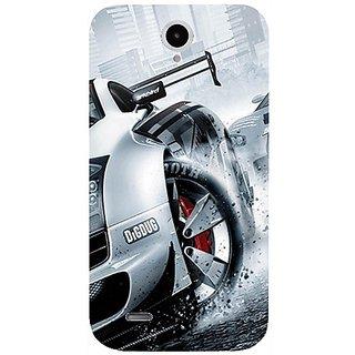 Casotec Drift Sport Print Design Hard Back Case Cover For Lenovo A850